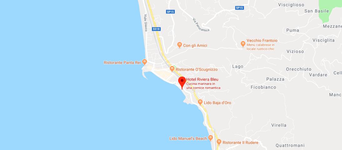 Mappa Riviera Bleu